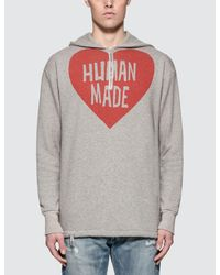 07932278fa563 Lyst - Human Made P o Zip Hoodie in Gray for Men