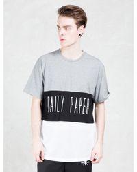 Daily Paper | Gray Black Script Logo Mesh Panel T-shirt for Men | Lyst