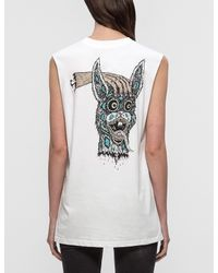 McQ | White 'bring Me The Head Of Bunny' Tank | Lyst