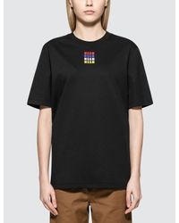 MSGM - Black Mirco Color Logo S/s T-shirt - Lyst