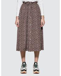 Maison Kitsuné - Multicolor All-over Flower Paige Long Skirt - Lyst