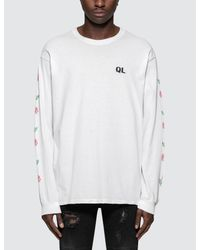 The Quiet Life - White Rose L/s T-shirt for Men - Lyst