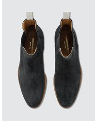 Common Projects - Black Waxed Chelsea Boots for Men - Lyst