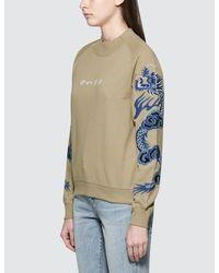 Maharishi - White Golden Crew Sweatshirt - Lyst