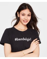Henri Bendel - Metallic Striped Bow Pearl Pendant - Lyst