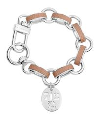 Henri Bendel | Brown Carlyle Leather Wrapped Charm Bracelet | Lyst