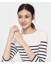 Henri Bendel - Metallic Pave Bendel Link Ring - Lyst