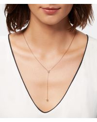 Henri Bendel - Metallic Luxe Asscher Cut Y Necklace - Lyst