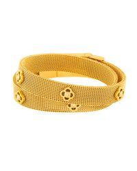 Henri Bendel - Metallic Petal Wrap Bracelet & Choker - Lyst