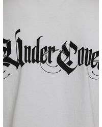 Undercover White Contrast Script Logo T-shirt for men