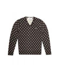 Comme des Garçons   Play Mens V-neck Polka Dot Knit Pullover Black for Men   Lyst