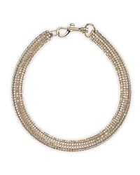 Atelier Swarovski - Metallic Slim Bolster Necklace Golden Shadow - Lyst