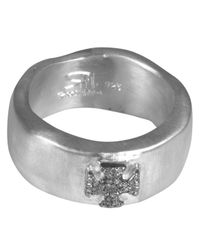 Rosa Maria | Metallic Rosecut Diamond Protection Symbol Silver Ring Womens | Lyst