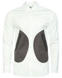 Comme des Garçons | Panelled Formal Tailored Shirt White for Men | Lyst