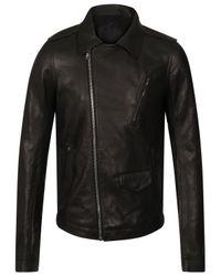 Rick Owens | Stooges Biker Leather Jacket Black for Men | Lyst