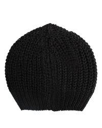 Rick Owens | Knitted Maglia Hat Black for Men | Lyst
