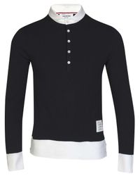 Thom Browne | Blue Classic Pique Polo Navy for Men | Lyst