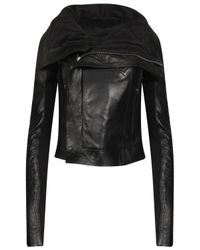Rick Owens | Classic Biker Leather Jacket Black | Lyst