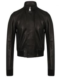 Rick Owens | Glitter Egon Leather Jacket Black for Men | Lyst