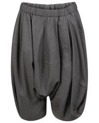 Comme des Garçons | Gray Drop Crotch Shorts Grey | Lyst