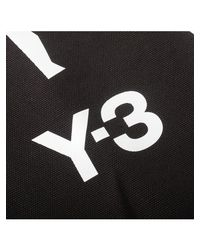 Y-3 | Canvas Cracked Logo Shopper Bag Black | Lyst