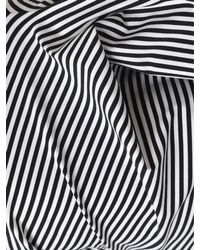 Junya Watanabe - Fold Over Neck Striped T-shirt Black/white - Lyst