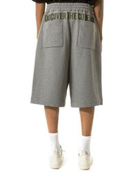 Juun.J - Gray Embroidered Shorts for Men - Lyst