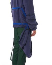 Cottweiler - Blue Strapped Hooded Jacket for Men - Lyst