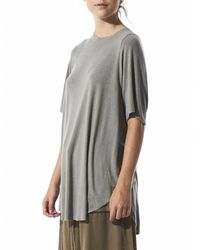 LOST & FOUND ROOM - Gray Cashmere Blend Knit Tee - Lyst