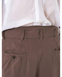 Di Liborio - Brown Washed Jersey Trousers for Men - Lyst