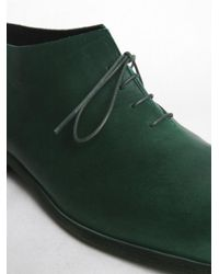 PETROSOLAUM - Green Ankle Oxford Boots for Men - Lyst