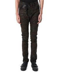 Boris Bidjan Saberi - Black Waxed Denim Trousers for Men - Lyst