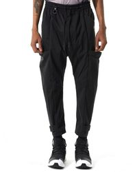 Y-3 | Black Drawstring Trainer for Men | Lyst