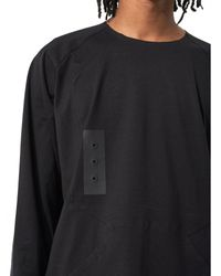 Y-3 - Black Patchwork Long-sleeve Tee for Men - Lyst