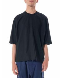Homme Plissé Issey Miyake | Blue Relaxed Round Neck Tee for Men | Lyst