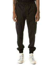 Juun.J | Black Tiered Joggers for Men | Lyst