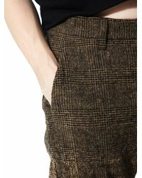 Attachment - Multicolor Boiled Wool Glen Plaid Trousers for Men - Lyst