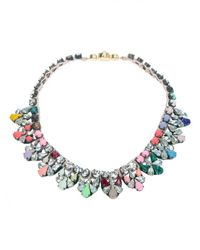 Shourouk | Metallic Multicolored Rhinestone Necklace | Lyst