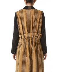Uma Wang | Multicolor Pinstriped Coat | Lyst