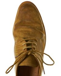 A Diciannoveventitre - Brown Laced Derby Shoes for Men - Lyst