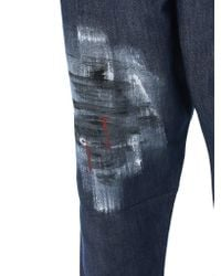 Isabel Benenato - Blue Pleated Cropped Trousers for Men - Lyst