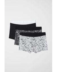 H&M - Black 3-pack Short Boxer Shorts for Men - Lyst