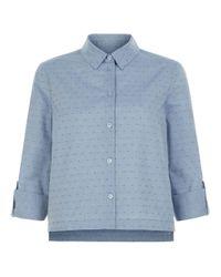 Hobbs | Blue Marion Dobby Shirt | Lyst