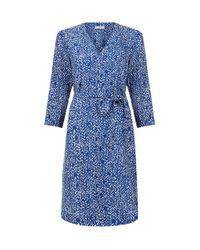 Hobbs | Blue Henrietta Dress | Lyst