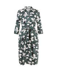Hobbs   Green Val Printed Dress   Lyst