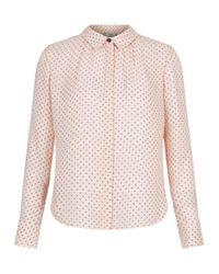 Hobbs | Pink Calla Printed Shirt | Lyst