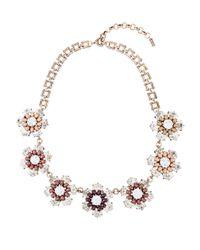Hobbs - Black Fleur Necklace - Lyst