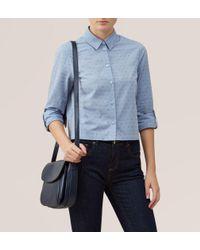 Hobbs - Blue Marion Dobby Shirt - Lyst