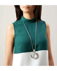 Hobbs - Metallic Sara Knot Necklace - Lyst