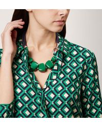 Hobbs - Green Naomi Necklace - Lyst